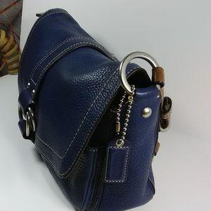 COACH F10893 navy handbag